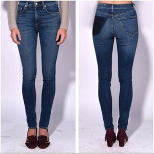 Rag and bone dive skinny high rise jeans in Eddy